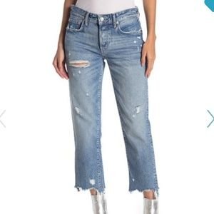 28 Free People ripped cropped skinny jeans